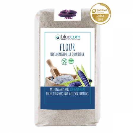 Bluecorn flour, nixtamalized