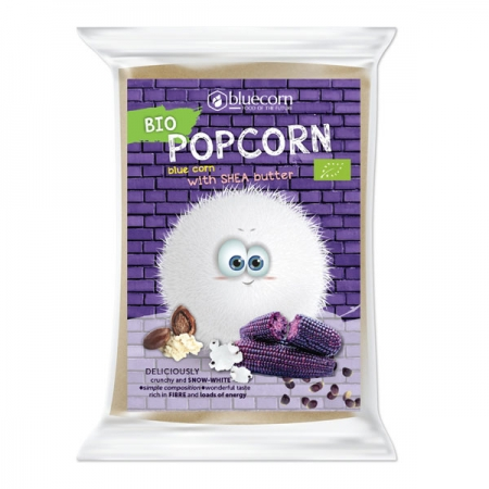 Organic Blue Popcorn with Shea butter and salt for microwave (Fluffer)