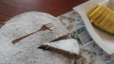 "Brazylijskie ciasto kukurydziane ""Bolo de Fuba com Coco"""