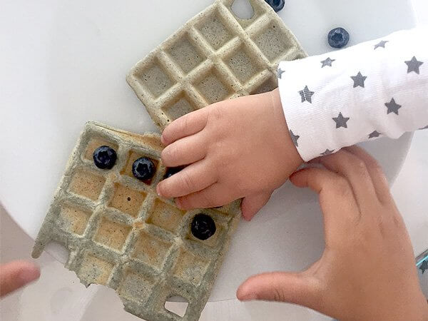 Gluten-free blue waffles