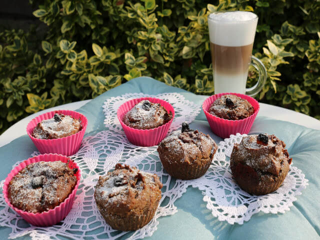 Gluten-free Bluecorn muffins
