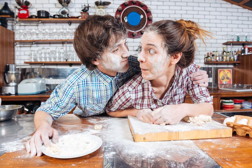 Baking of gluten-free cake
